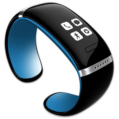 Smart Design OLED Bluetooth 3.0 Bracelet Watch with Call ID Display / Answer / Dial / SMS Sync / Anti-lost / Music Player for iPhone / Samsung / HTC / Blackberry / etc - L12S