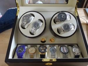 時計を設置したところ。ぶっちゃっけ、相当に身分不相応な時計をもっていますが、そのへんはまたおいおい・・