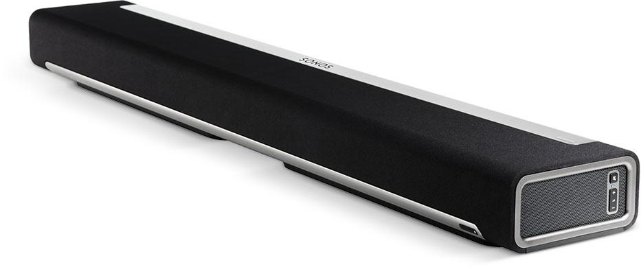 SONOS Playbar。テレビともつなげるし、WiFiとも繋げれる。SONOSの他のスピーカーを買っていけば、少しづつch数を増やしてホームシアターにできるのがGood!