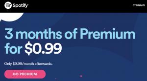 3ヵ月で$0.99ってさすがに激安!