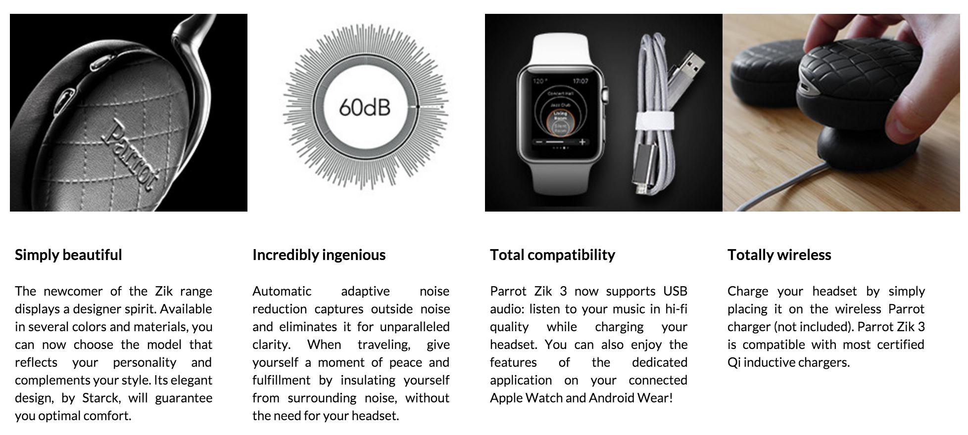 公式サイトでの説明文。要はかっこよくて、ノイズキャンセリングもインテリジェントで、USBでHiResもいけて、さらに無線充電もできる、ということ!