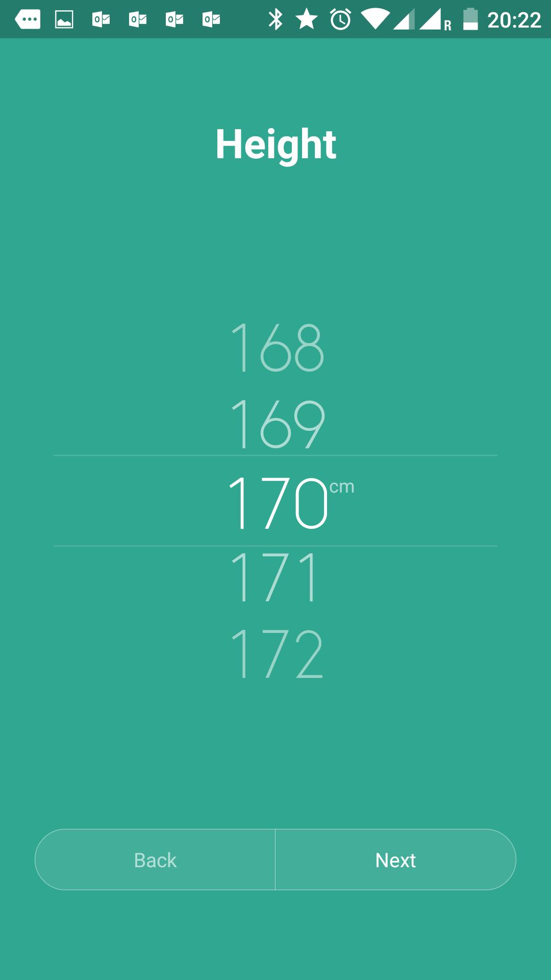 身長の選択。rakeemはサバ読まずに170cmですたい!