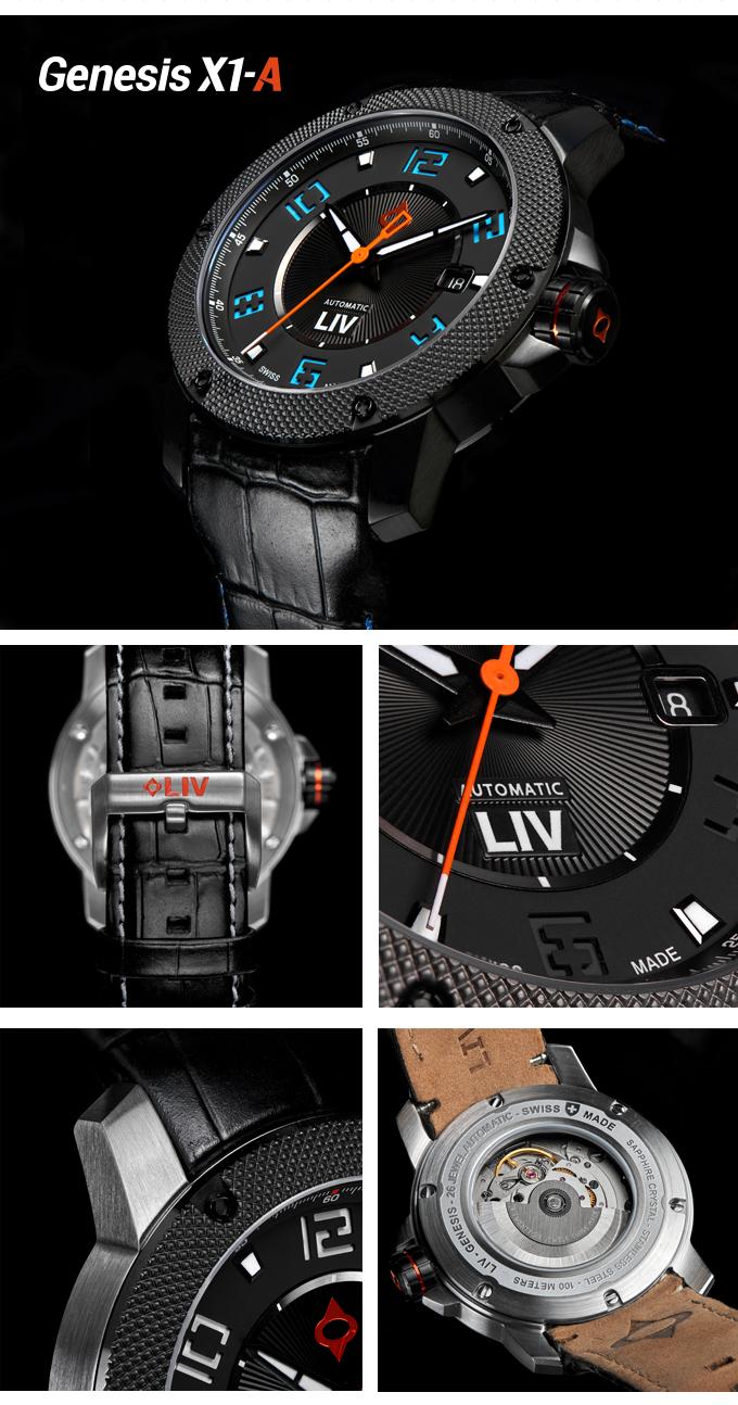 LIV社のもう新モデルはSwiss製オートマムーブメント採用したモデル!